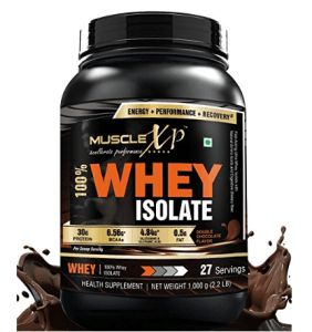 Amazon  Buy MuscleXP 100% Whey Isolate Protein  1Kg (2.2 lbs) Double Rich Chocolate at Rs.2499