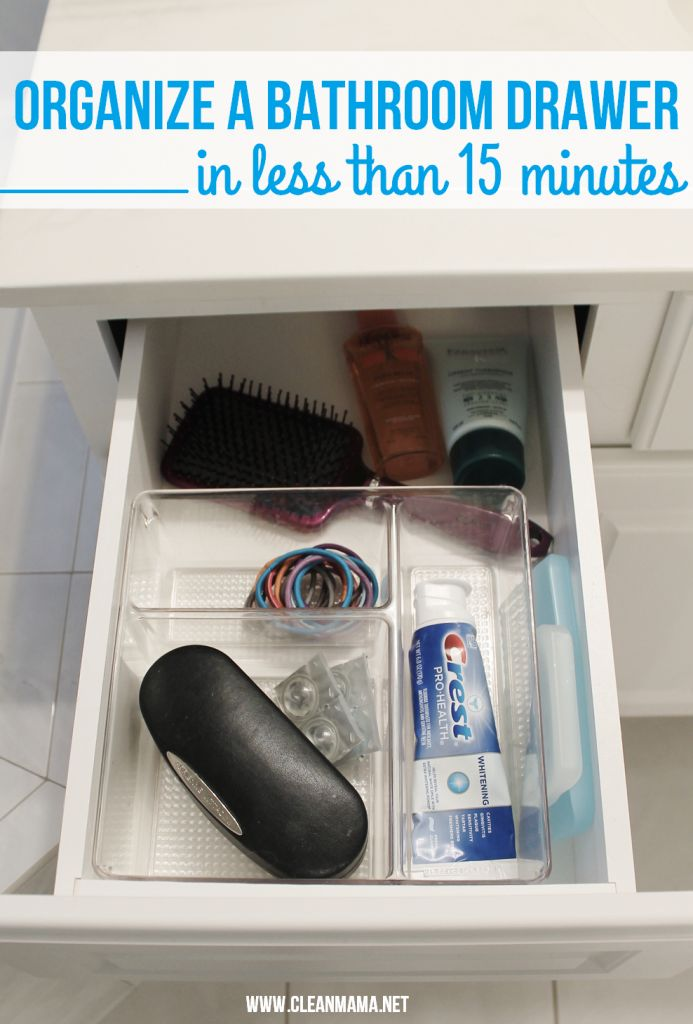 Minimal time on your hands? 15 minutes is all you need for a quick clean and organize! Organize a Bathroom Drawer in Less Than 15 Minutes via Clean Mama