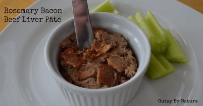 Beef Liver Pâté with Bacon and Rosemary - Gutsy By Nature