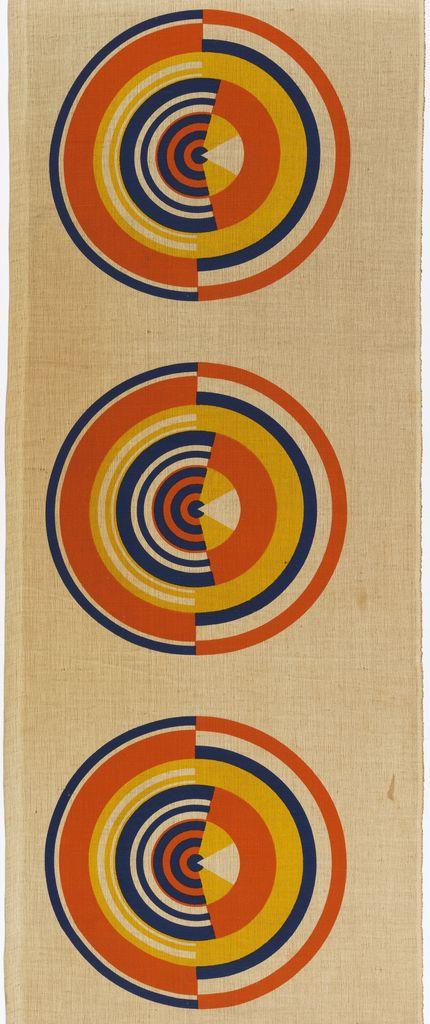 "Gae Aulenti, ""Loco Sole"", 1968. Screen printed linen. Courtesy Cooper-Hewitt"