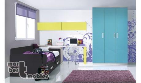Dormitorio juvenil Gina 554