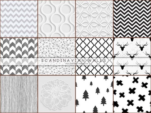 The Sims Resource Scandinavian Walls By Pralinesims Sims 4 Downloads Sims 4 Cc Furniture Sims Sims 4