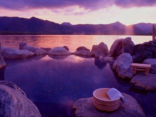 屈斜路湖,コタン温泉,露天風呂,lake,kussharo,onsen,spa,