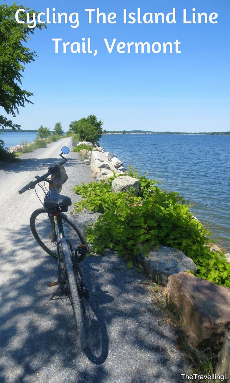 Cycling The Island Line Trail from Burlington to South Hero Island, Vermont.