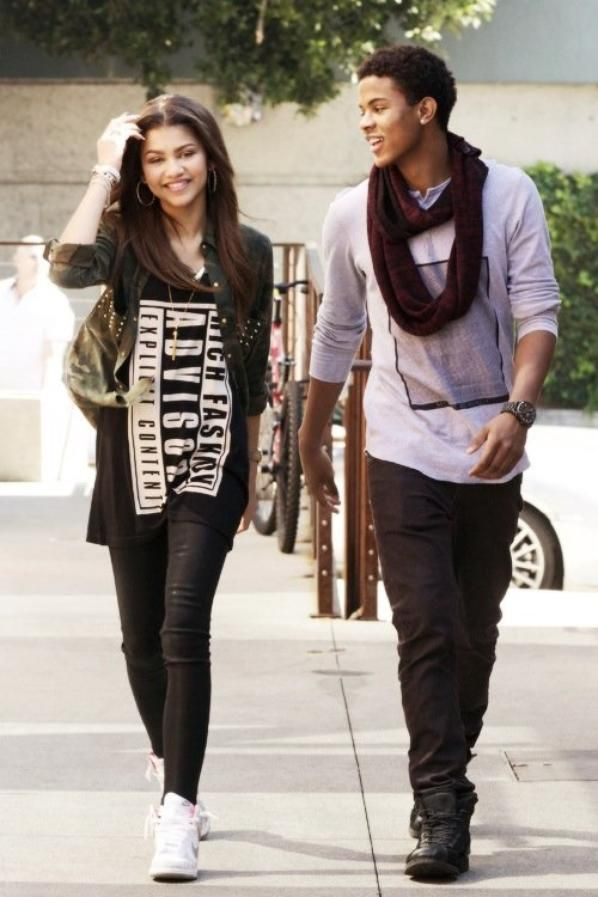 Zendaya with her boyfriend Trevor Jackson