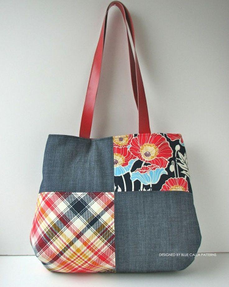 The Poppy Patchwork Tote Bag PDF Pattern