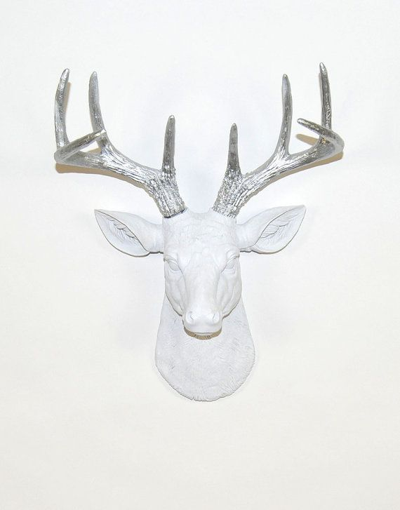Faux Deer Head  The MINI Frankfurt  White W/ by WhiteFauxTaxidermy, $47.99
