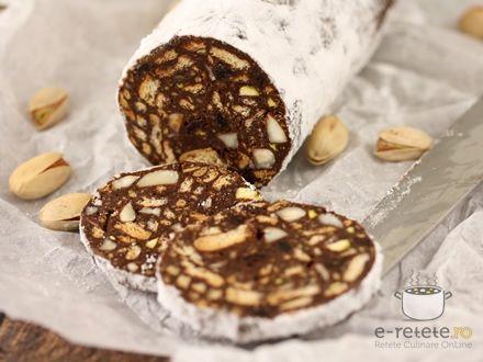 Salam de biscuiti cu ciocolata. Imagini pas cu pas pentru salam de biscuiti cu ciocolata