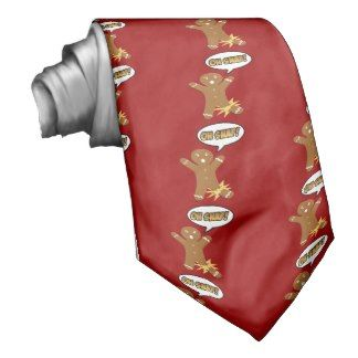 Oh Snap! Funny Christmas Gingerbread Man Custom Tie