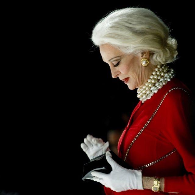 Carmen Dell'Orefice/ bordering necro-elegance! Sensational! Unbeatable!
