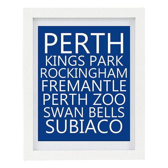 Perth Australia Subway Print