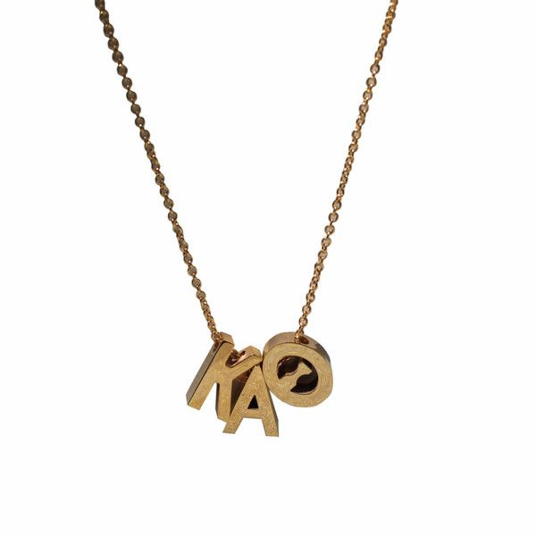kappa alpha theta letter necklace