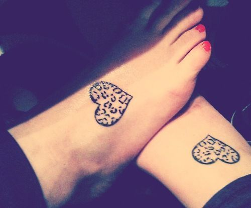Hearts Friendship Tattoos #Tattoosonneck