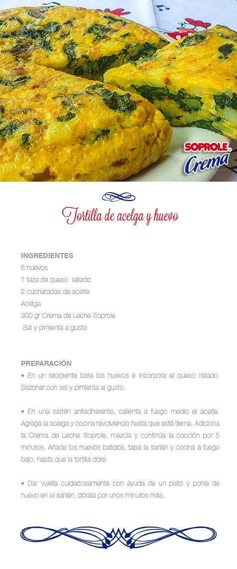 Tortilla de acelga y huevo