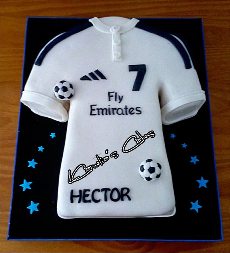 Best  Real Madrid Cake Ideas On Pinterest Real Madrid Soccer - Birthday cake shirt