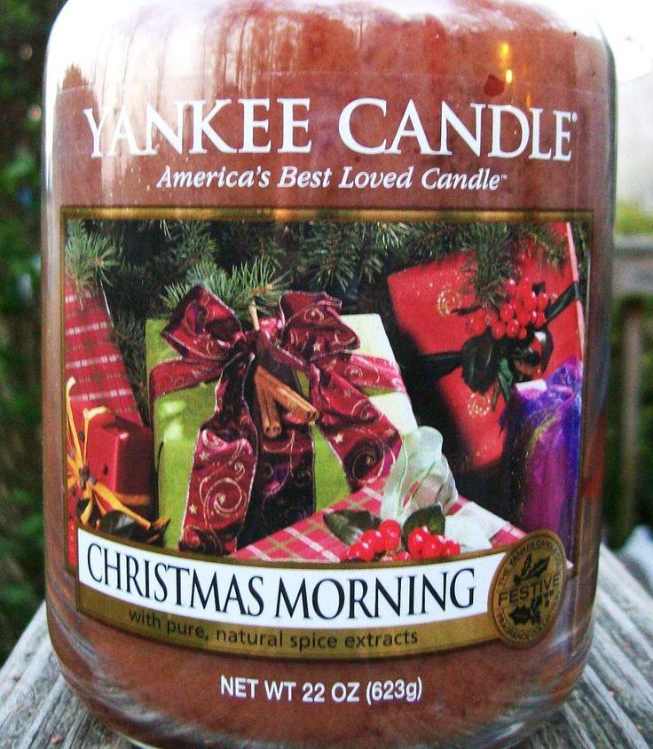 Yankee Candle  CHRISTMAS MORNING  Festive Large 22 oz SIZE NEW!