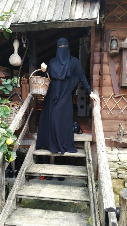 Pearl in Abaya, Khimar, and Niqab