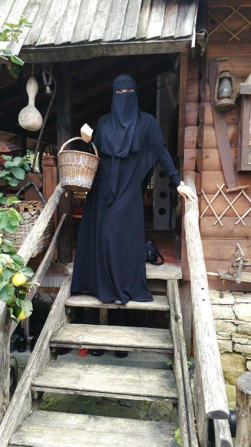 Pearl in Abaya, Khimar, and Niqab