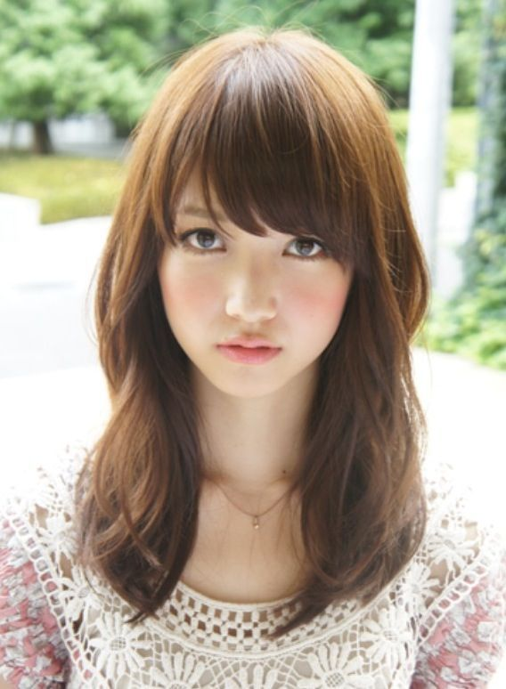 Medium Length With Bangs Hairstyle You Can Follow   Read more : http://www.ferbena.com/medium-length-with-bangs-hairstyle-you-can-follow.html