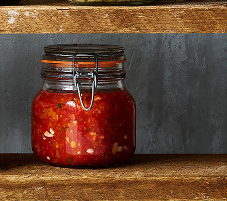 Fermenteret peberfrugt-relish