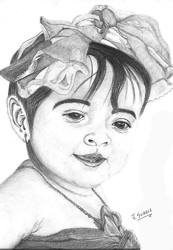 Lápiz graphite-Retrato María José Suárez