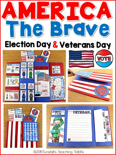 America the Brave! Election Day and Veterans Day - Tunstall's Teaching Tidbits