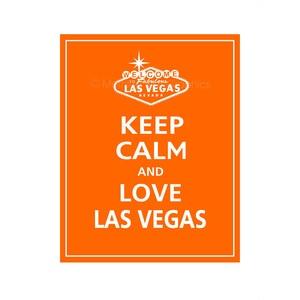 keep calm and love las vegas