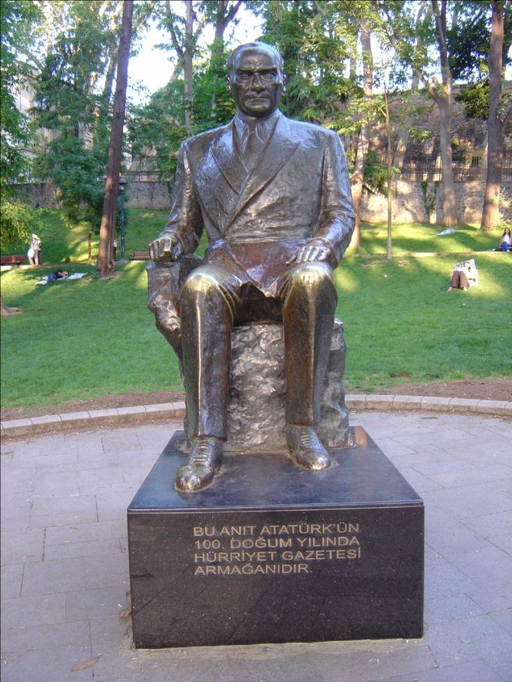 Turkey, Ataturk Statue, Istanbul