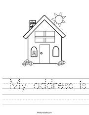 name, address, phone number worksheets...customizable