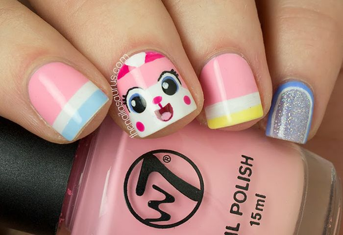 So Awesome! Lego Movie Nail Art by The Nailasaurus