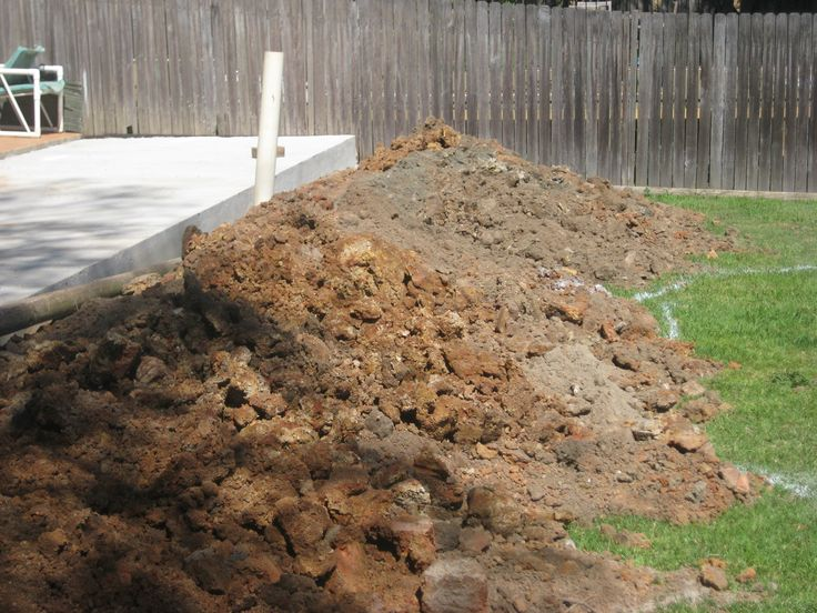 Stage 1 - The dirt from the cellar was used to level out the backyard for the garden
