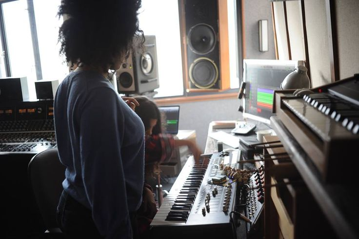 Ibeyi in the studio