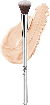 IT Brushes For ULTA Airbrush Blurring Concealer Brush #103 is a fluffy rounded tip ideal for covering small hard to reach areas like inner eye corners and around nose.