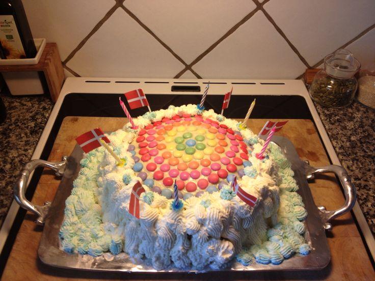 Regnbuekage til min søns fødselsdag ❤️☀️
