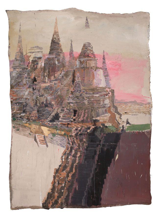 IlPost - Velasco Vitali, Ayutthaya, 2013. Tecnica mista su tela, 233 x 163 cm - Velasco Vitali, Ayutthaya, 2013.  Tecnica mista su tela, 233 x 163 cm