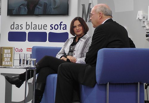 Daniela Dahn auf dem Blauen Sofa 2013