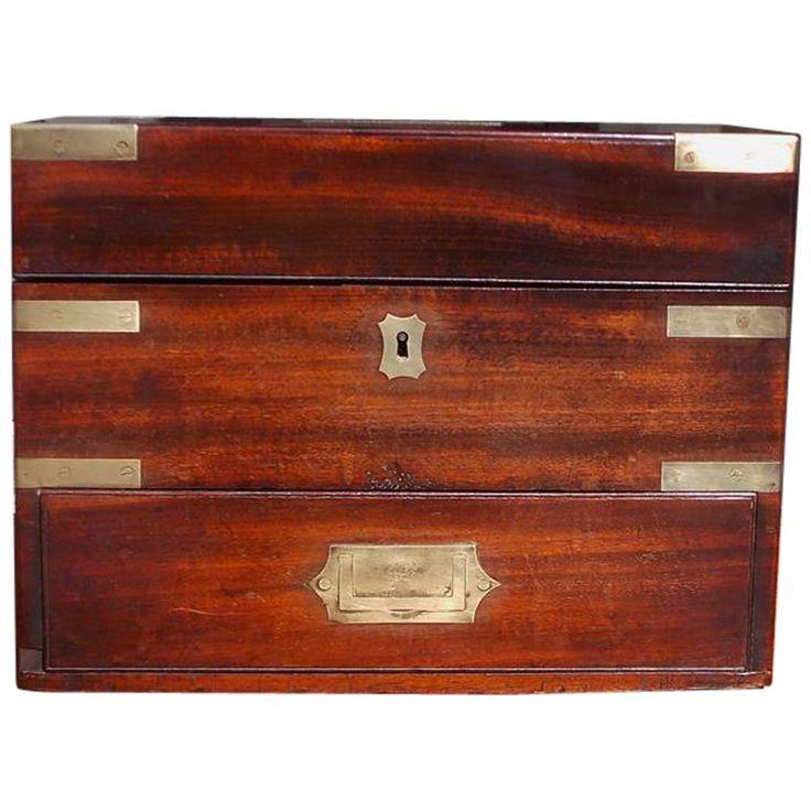 English Mahogany Military Campaign Medical Box. Circa 1820