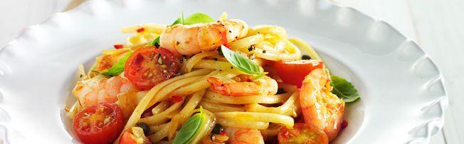 Heinz prawn Linguine Recipe (cals unknown)