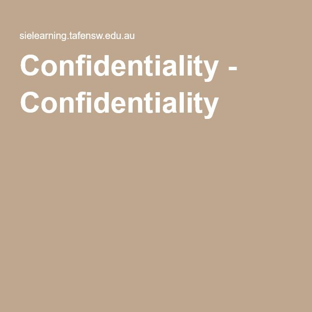 Great information on confidentiality and record keeping