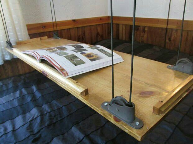 Paracord pully lift table