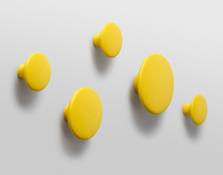 Věšák Muuto The Dots malý, žlutý   DesignVille