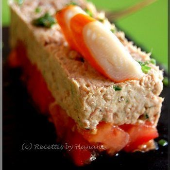 Entr e l g re et facile tartare tomate thon recettes for Entree legere et simple