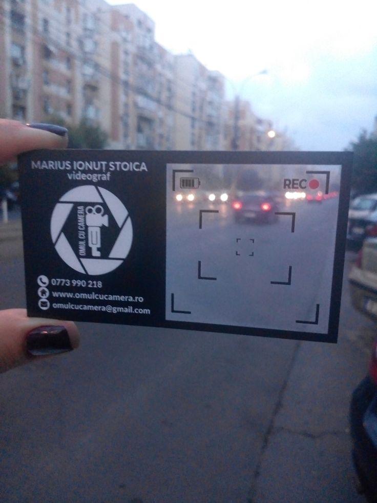 Carti de vizita transparente pentru videograf  #cartidevizita