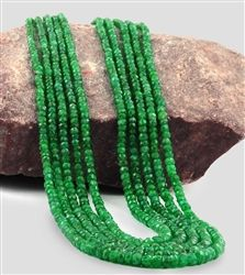 simply emeralds - adjustable textile thread with this colombian emerald necklace