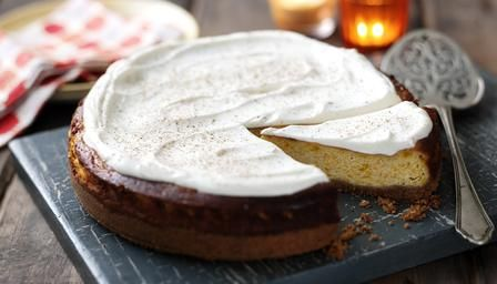Delicious Fall Food Recipes. Pumpkin cheesecake