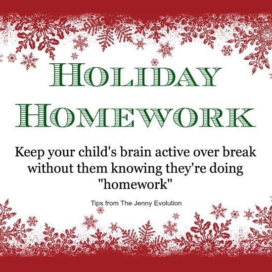 The winter break from school is often filled with travel plans and activities, but keep your child learning over these weeks with holiday homework.