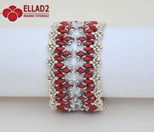 Beading Tutorial for Calista Bracelet with Kheops beads is very detailed, easy to follow, step by step, with clear beading instructions and with color...
