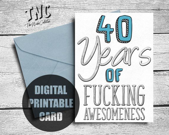 Funny 40th Birthday Card