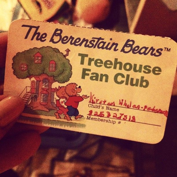 Kirsten's Treehouse Fan Club Card ... who else still has theirs??