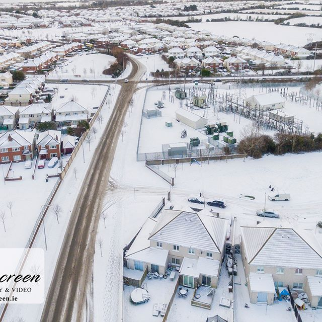 Aerial photographs from above #swords #stormemma Stay safe folks!